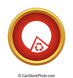 Recyclable product icon, simple style