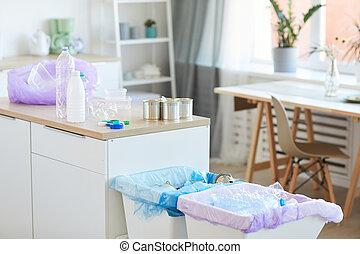 recyclage, déchets, maison