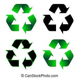 recyclage, icône