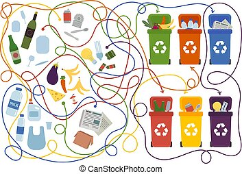 recyclage, labyrinthe, gosses, solution