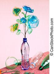 recyclage, plastique