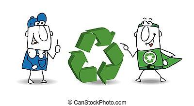 recyclage, signe