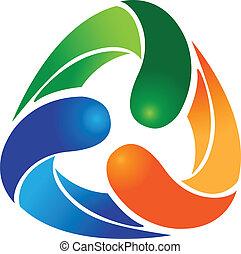 Recycle abstract logo vector