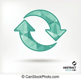 recycle abstract vector icon geometric polygon