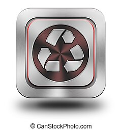 Recycle aluminum glossy icon