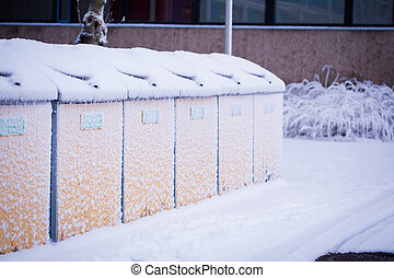 Recycle area in snow