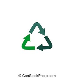 Recycle arrow logo design vector template