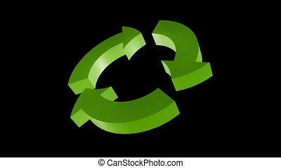 Recycle arrows - Rotating 3D arrows for your recycle...