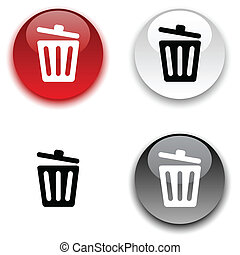 Recycle bin button.