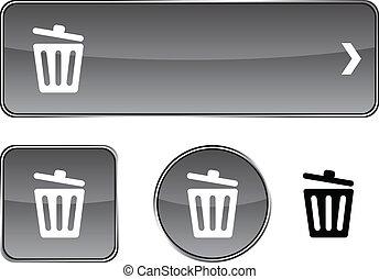 Recycle bin.  button set.