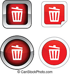 Recycle bin.  button set.