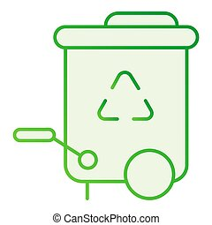 Recycle bin flat icon. Reuse gray icons in trendy flat style. Trash gradient style design, designed for web and app. Eps 10.