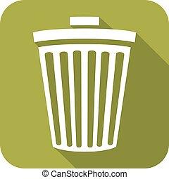 recycle bin flat icon