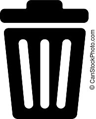 Recycle Bin Icon In Flat Style Vector For Apps, UI, Websites. Black Icon Vector Illustration