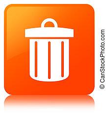 Recycle bin icon orange square button