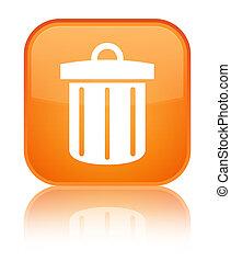 Recycle bin icon special orange square button