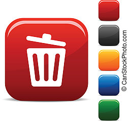 Recycle bin. icons.