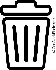 Recycle Bin Line Icon In Flat Style Vector For Apps, UI, Websites. Black Icon Vector Illustration