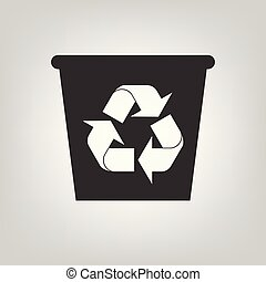 Recycle bin vector icon. Reuse or reduce symbol. Environment concept for graphic design, logo, web site, social media, mobile app, ui illustration