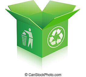 recycle boks, otwarty, opróżniać