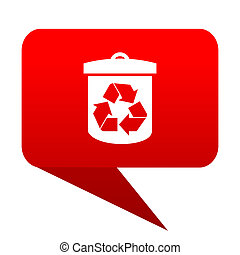 recycle bubble red icon