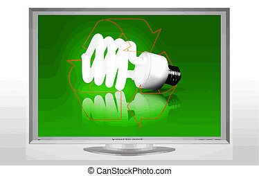 recycle bulb on television vector