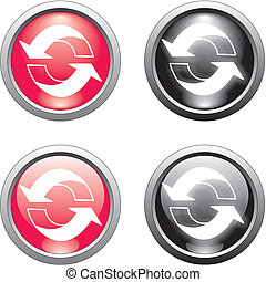 recycle button or icon