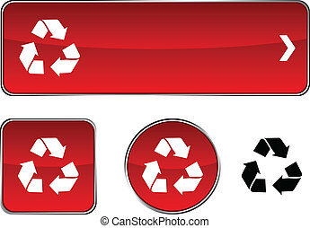 Recycle  button set.