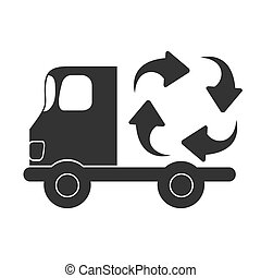Recycle car icon vector illustration design isolated