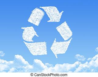 Recycle cloud shape