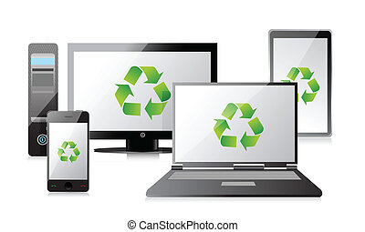 recycle Computer, Laptop Tablet and Phone, router - recycle...
