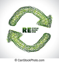 Recycle design over white background, vector illustration