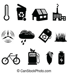 Recycle, eco and bio icons