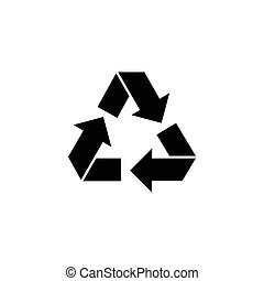 Recycle, Ecology Recycling Flat Vector Icon