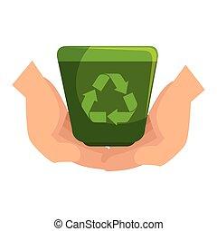recycle ecology symbol icon