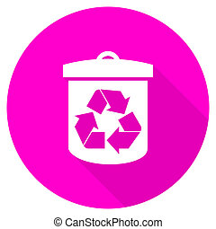 recycle flat pink icon