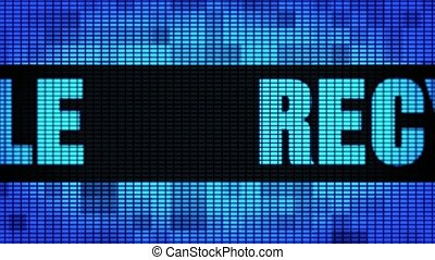 Recycle Front Text Scrolling LED Wall Pannel Display Sign...