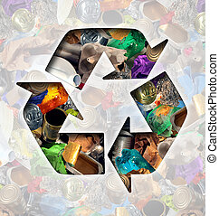 Recycle Garbage Concept - Recycle garbage concept and...