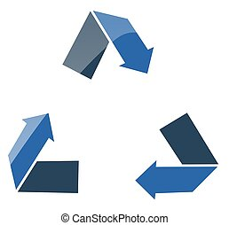 Recycle gloss - recycle arrows with gloss effect