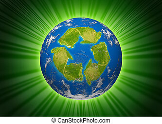 recycle-green-earth-planet - Green planet symbol represented...