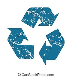 Recycle grunge icon