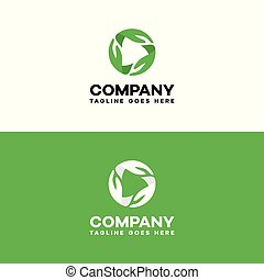 recycle hand green logo