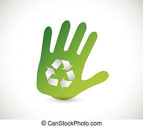 recycle handprint illustration design