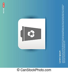 Recycle Icon - Blue Sticker button