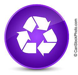 Recycle icon elegant purple round button