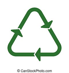 recycle icon green arrow round