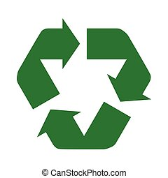 recycle icon green circle arrow