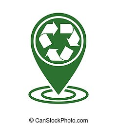 recycle icon green in circle