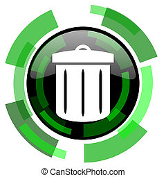 recycle icon, green modern design isolated button, web and mobile app design illustration
