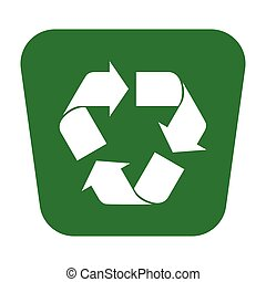 recycle icon green pin transparent